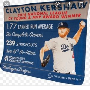 Clayton Kershaw 2014 Cy Young & MVP blanket
